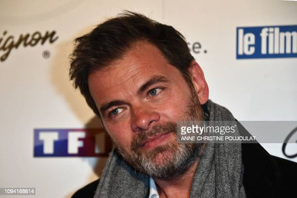 French actor Clovis Cornillac poses as he arrives for the 26th Film Francais trophies ceremony at the Palais Brongniart in Paris on February 5 2019