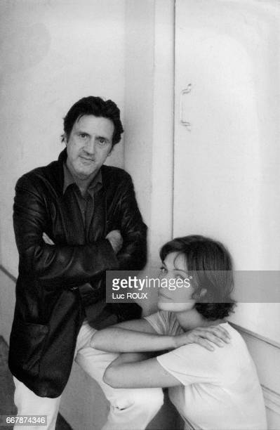 French actor Daniel Auteuil and his partner Marianne Denicourt.