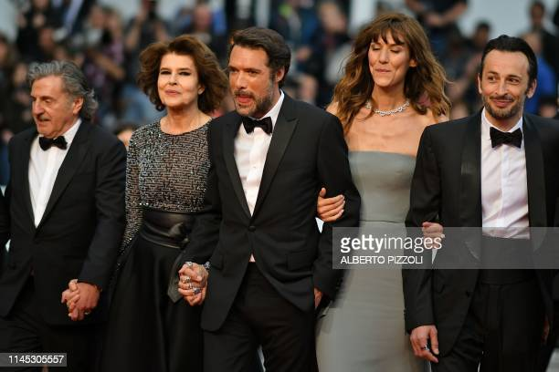 French actor Daniel Auteuil French actress Fanny Ardant French director Nicolas Bedos French actress Doria Tillier and French actor Michael Cohen...