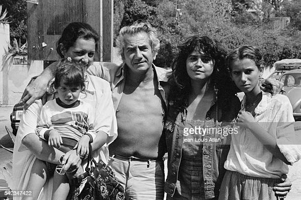 French actor Daniel Gelin with his wife Lydie Zaks and his children Laura Maria Schneider and Etona