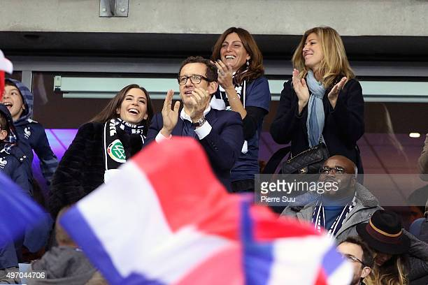 French Actor Danny Boonhis wife YaelBoxer JeanMarc Mormeck and writer Amanda Sthers attend the France v Germany International friendly football match...