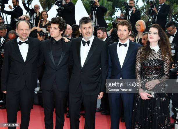 French actor Denis Podalydes French actor Vincent Lacoste French director Christophe Honore French actor Pierre Deladonchamps and French actress...