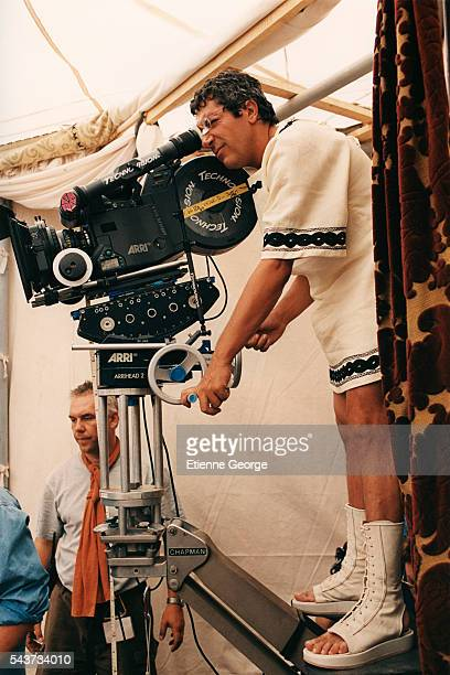French actor director and producer Alain Chabat on the set of Asterix and Obelix Meet Cleopatra written by Rene Gosciny and Albert Uderzo