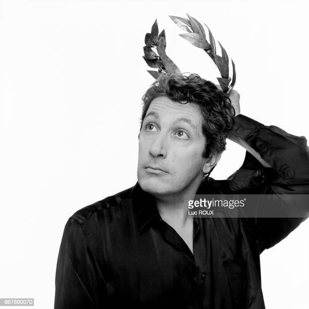 French actor director and producer Alain Chabat promotes his movie Asterix et Obelix Mission Cleopatre based on the comic book by René Goscinny and...
