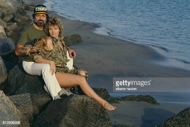 French actor director and producer Jean Yanne and his partner actress Mimi Coutelier