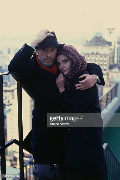 French actor director and screenwriter JeanLouis Trintignant and his daughter actress Marie Trintignant