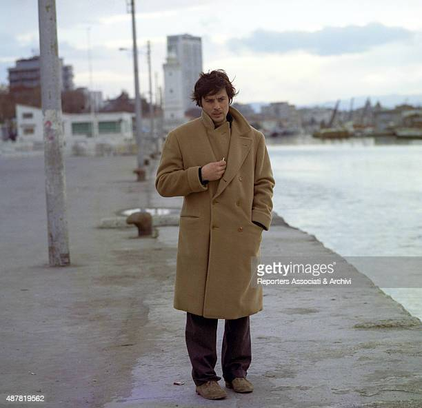 French actor director and singer Alain Delon walking in the film Indian Summer Italy 1972