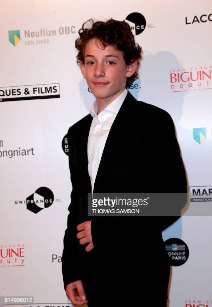 French actor Dorian Le Clech poses as he arrives to attend the 25emes Trophees du Film Français awards ceremony at The Palais Brongniart in Paris on...