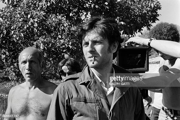 French actor Francis Huster is pictured on October 21 1978 in Nice on the set of the film 'Les Égouts du paradis' directed by José Giovanni based on...