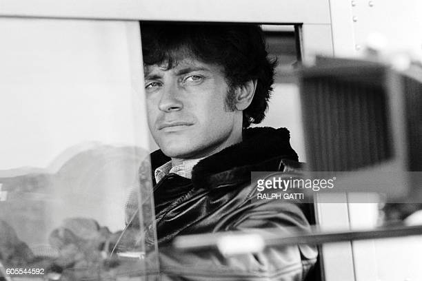 French actor Francis Huster poses on October 21 1978 in Nice on the set of the film 'Les Égouts du paradis' directed by José Giovanni based on a 1976...