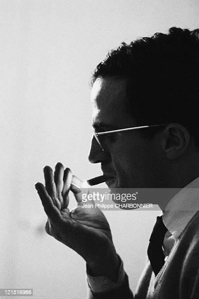 French Actor Francois Truffaut Lights A Cigarette