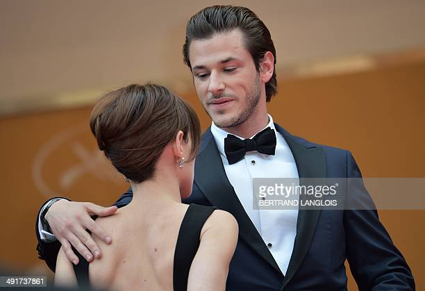 French actor Gaspard Ulliel and his partner Gaelle Pietri arrive for the screening of the film SaintLaurent at the 67th edition of the Cannes Film...