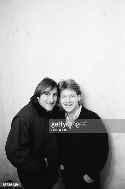 French actor Gerard Depardieu and British actor and director Kenneth Branagh