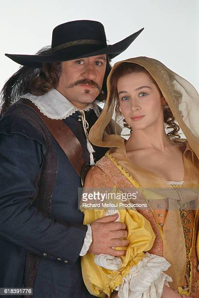 French actor Gerard Depardieu and French actress Anne Brochet for the film Cyrano de Bergerac, by Jean Paul Rappeneau.