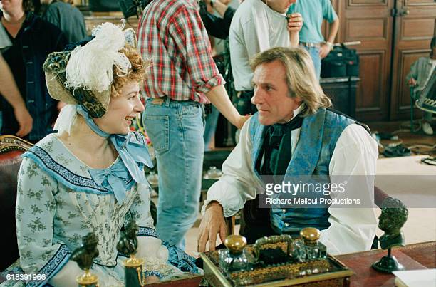 French actor Gerard Depardieu and his daughter Julie Depardieu on the set of the film Le Comte de MonteCristo by director Josee Dayan