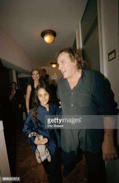 French actor Gerard Depardieu and his daughter Roxane attend the premiere of the operas Oedipus Rex by Igor Stravinsky and Jean Cocteau and...