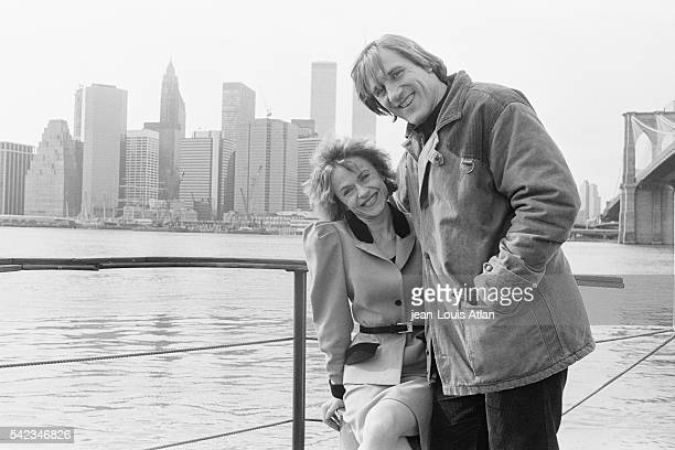French actor Gerard Depardieu and his wife Elisabeth in New York City