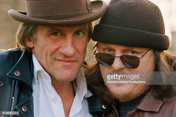 French Actor Gerard Depardieu and Italian Singer Zucchero