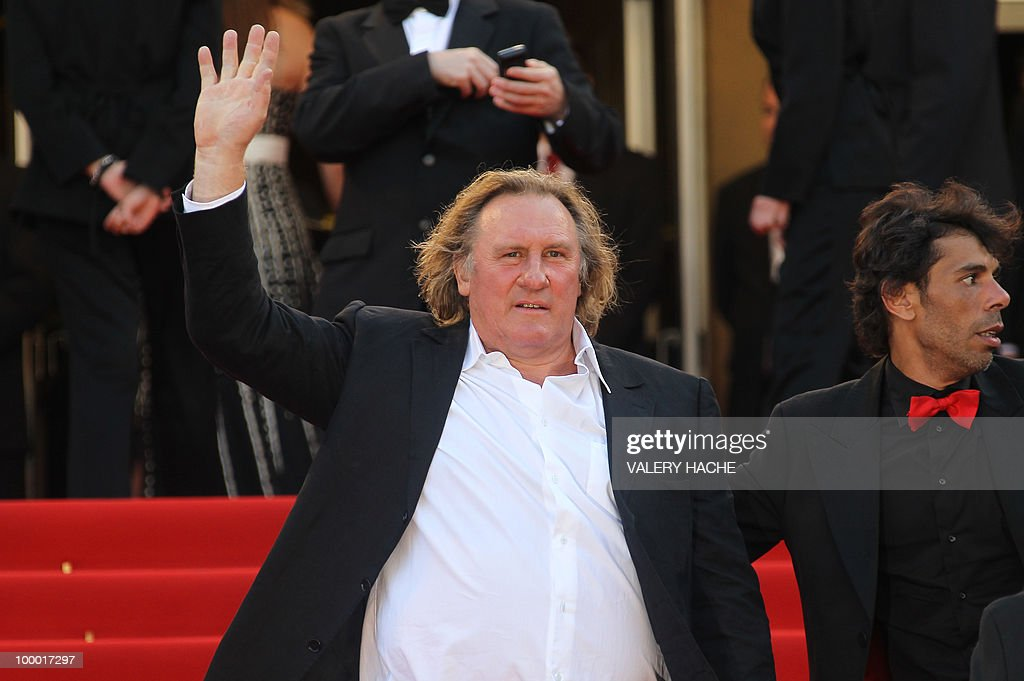 French actor Gerard Depardieu arrives fo