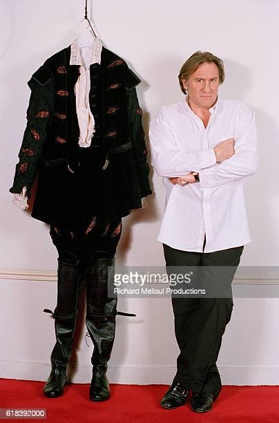 French actor Gerard Depardieu during the production of Les Portes du Ciel