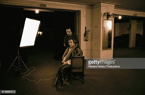 French actor Gerard Depardieu during the production of 'Les Portes du Ciel'