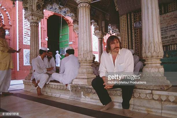French Actor Gerard Depardieu in India