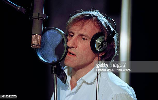 French actor Gerard Depardieu in the recording with Italian singer Zucchero
