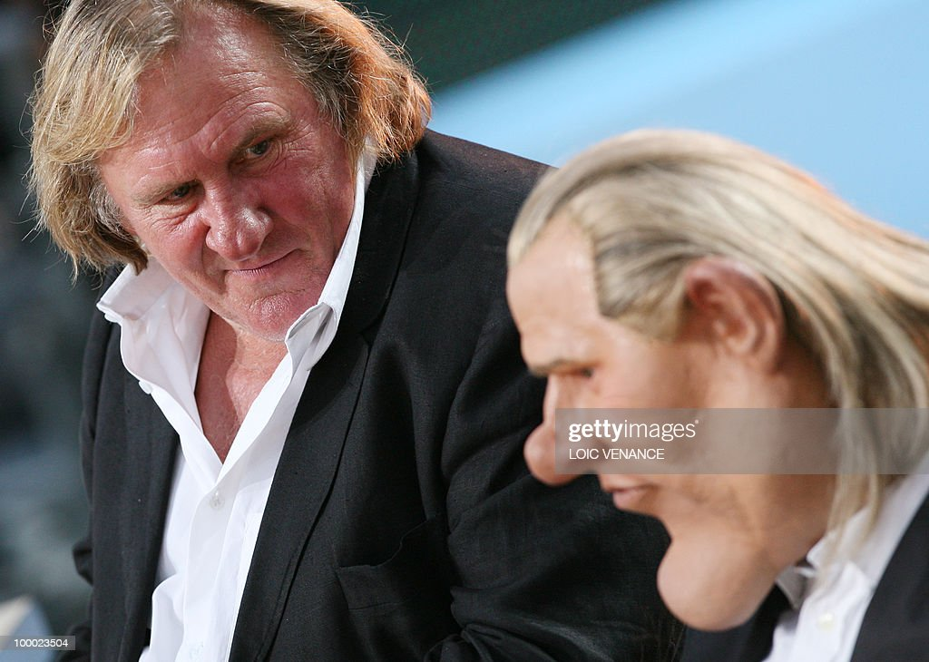French actor Gerard Depardieu looks on h
