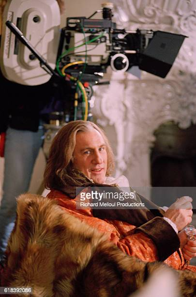 French actor Gerard Depardieu on the film set of Balzac