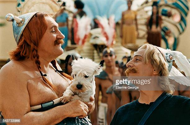 French actor Gerard Depardieu on the set of Atlas Corporation Studios Ouarzazate Morocco written by Rene Gosciny and Albert Uderzo and directed by...