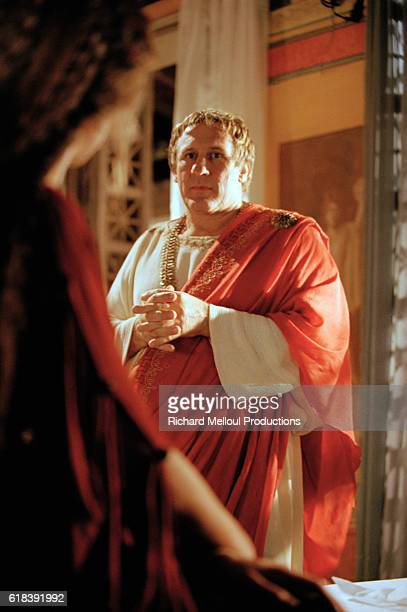 French actor Gerard Depardieu on the set of Berenice by the director JeanDaniel Verhaeghe