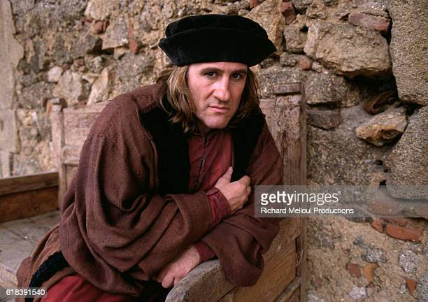 French actor Gerard Depardieu on the set of the film 1492 Conquest of Paradise by Ridley Scott