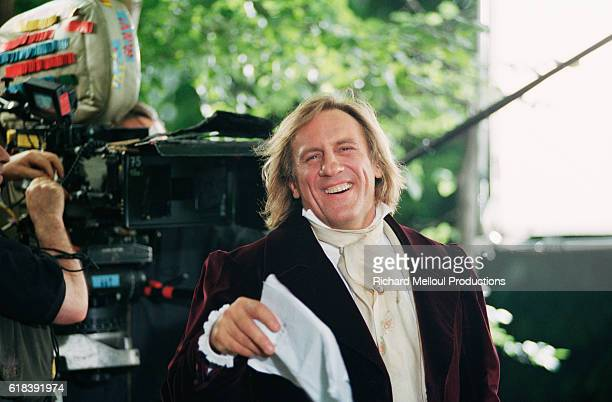 French actor Gerard Depardieu on the set of the film Le Comte de MonteCristo by director Josee Dayan