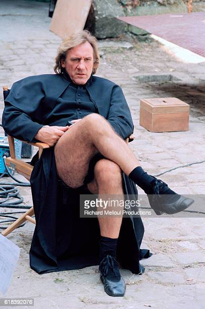 French actor Gerard Depardieu on the set of the film Le Conte de MonteCristo by director Josee Dayan