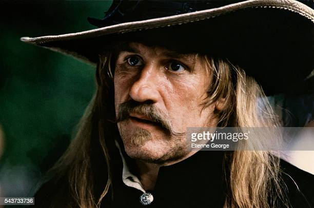 French actor Gerard Depardieu on the set of The Man in the Iron Mask based on the novel of Alexandre Dumas père and adapted and directed by American...
