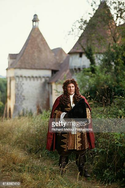 French actor Gerard Depardieu on the set of Tous les Matins du Monde written and directed by Alain Corneau