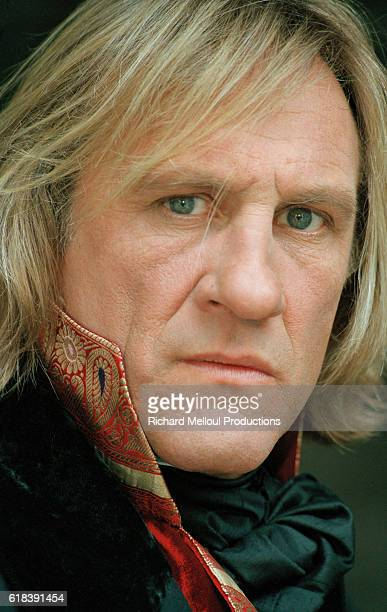 French actor Gerard Depardieu on the set of TV film Le Comte de Monte Cristo