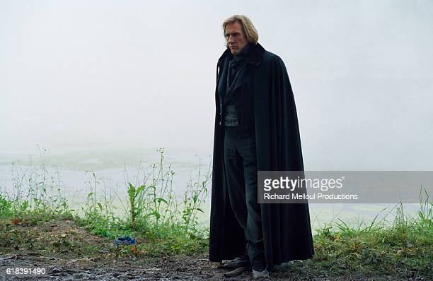 French actor Gerard Depardieu on the set of TV film 'Le Comte de Monte Cristo'