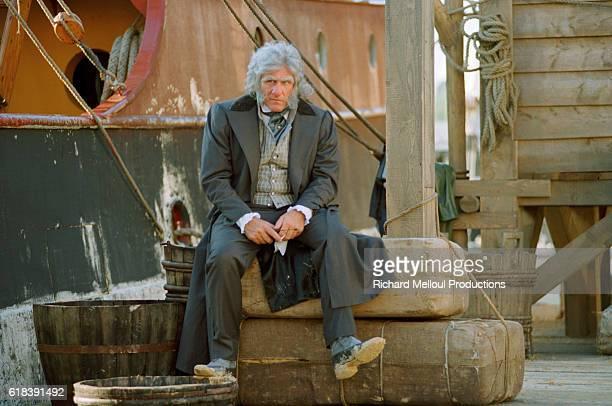 French actor Gerard Depardieu on the set of TV film Le Comte de Monte Cristo