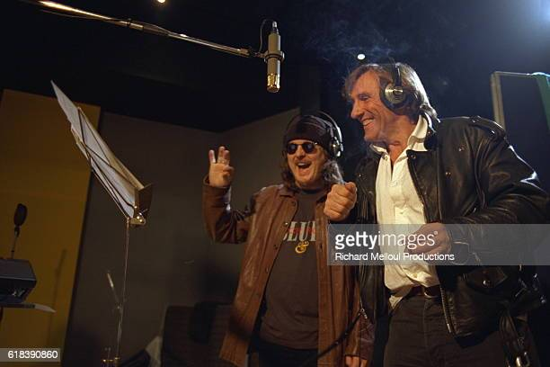 French actor Gerard Depardieu records the song Un piccolo aiuto with Italian rock singer Zucchero