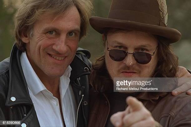 French actor Gerard Depardieu records the song Un piccolo aiuto with Italian rock singer Zucchero