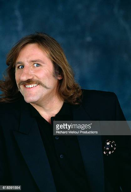 French actor Gerard Depardieu wearing the prosthetic nose for the role of Cyranno de Bergerac