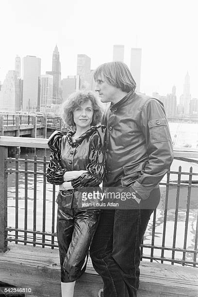 French actor Gerard Depardieu with his wife Elisabeth in New York City.