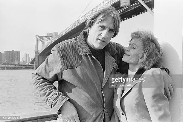 French actor Gerard Depardieu with his wife Elisabeth in New York City