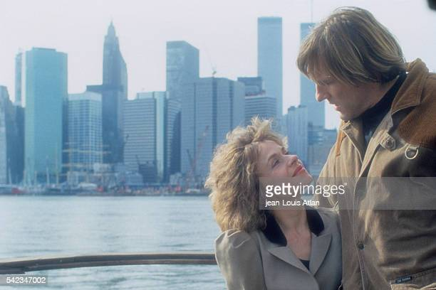 French actor Gerard Depardieu with his wife Elisabeth in New York