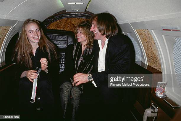 French actor Gerard Depardieu with his wife Elizabeth and his daughter Julie