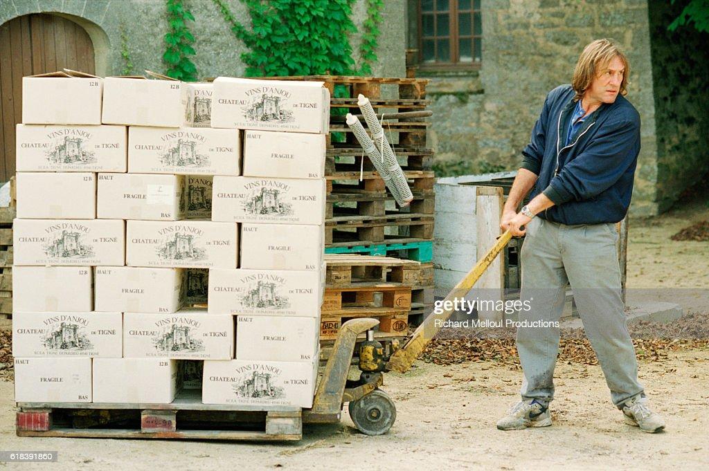 Gerard Depardieu at His Vineyard : Photo d'actualité