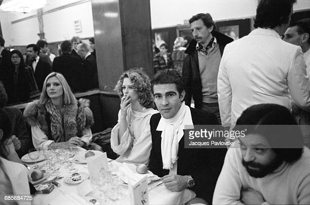 French actor Gilles Kohler at La Coupole restaurant to celebrate the premiere of 'Bilitis' the first film by English photographer and film director...