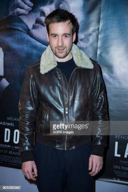 French actor Gregoire Leprince Ringuet at the premiere of 'La Douleur' at the cinema Gaumont Opera in Paris