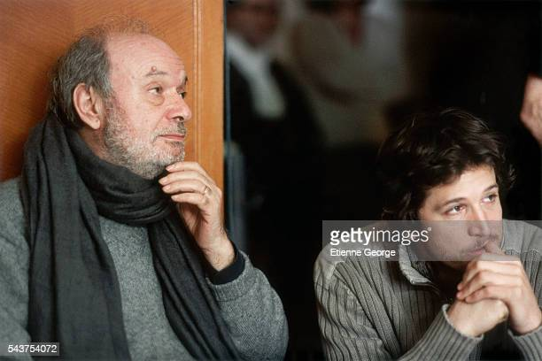 French actor Guillaume Canet and French director Claude Berri on the set of his film 'Ensemble c'est tout' based on Anna Gavalda's novel by the same...